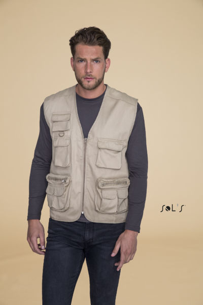 Gilet publicitaire reporter multipoches | Wild