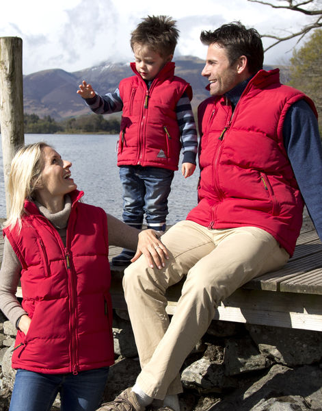 Bodywarmer publicitaire enfant manches longues avec capuche | Junior Ultra Padded Bodywarmer Red 3