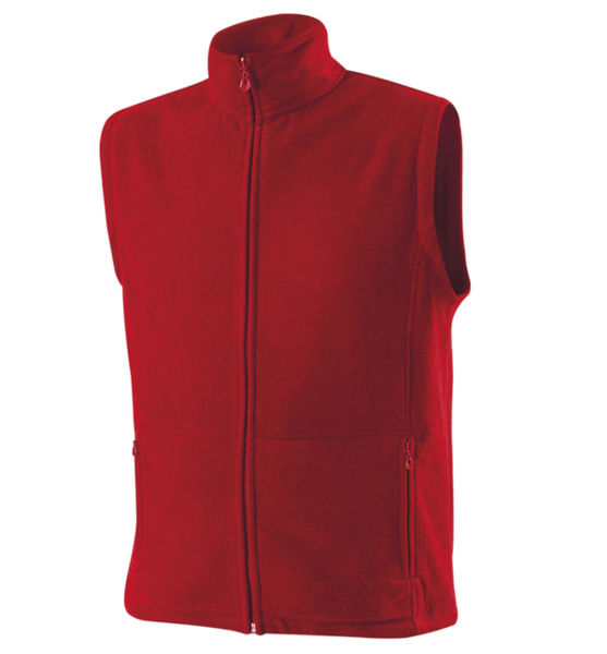 Bodywarmers pub GILET polaire-publicitaire 330 SW73N Red