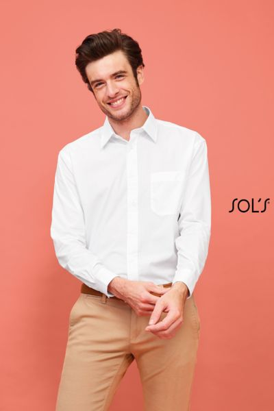Chemise publicitaire homme popeline manches longues | Baltimore