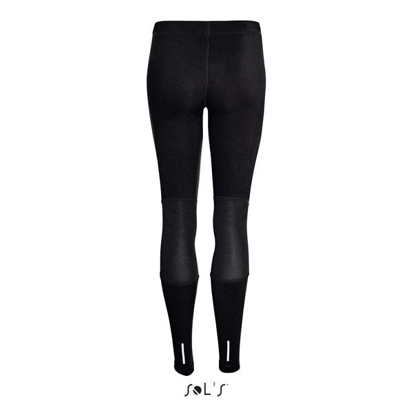 Legging publicitaire running femme | London Women Noir 1