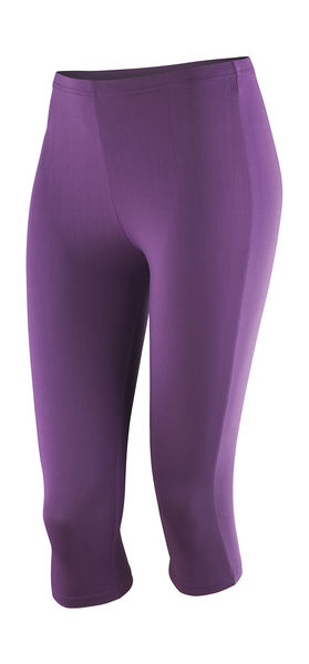 Pantalon training publicitaire femme | Women`s Impact Softex® Capris Grape 1