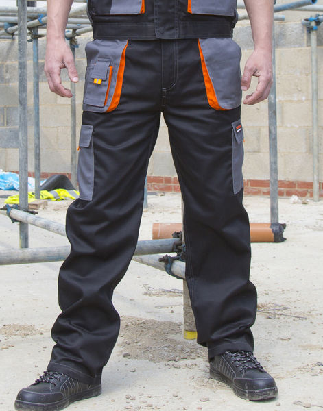 Pantalon lite publicitaire | LITE Trouser Black Grey Orange 1