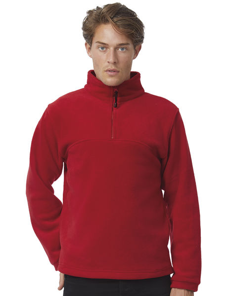 Polaire personnalisée manches longues | Highlander+ 1 4 Zip Fleece Top Red 1