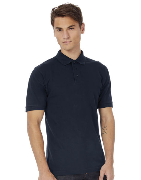 Polo publicitaire homme manches courtes | Heavymill Piqué Polo Navy 1