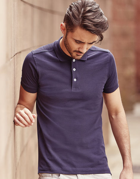 Polo stretch homme publicitaire | Juribei French Navy 4