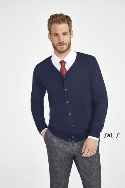 Cardigan publicitaire homme col v | Griffith