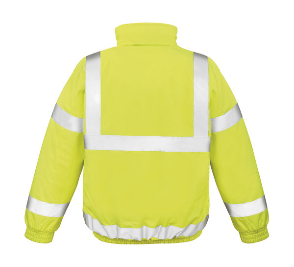 Softshell publicitaire homme manches longues réfléchissantes | Safety Padded Fluorescent Yellow