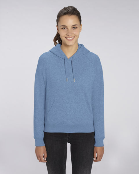 Sweat-shirt capuche iconique femme | Stella Trigger Mid Heather Blue