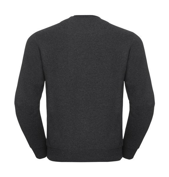 Sweat-shirt col rond chiné publicitaire | James River  Charcoal Melange