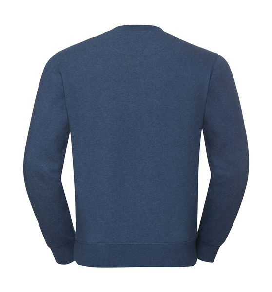 Sweat-shirt col rond chiné publicitaire | James River  Ocean Melange