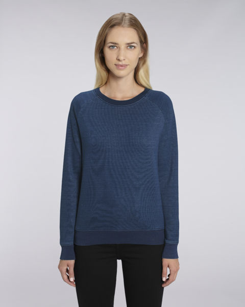 Sweat-shirt col rond denim femme  | Stella Tripster Denim Mid Washed Indigo