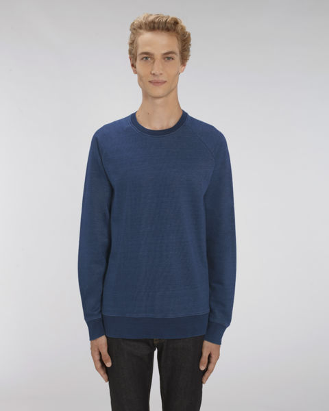 Sweat-shirt col rond denim homme | Stanley Stroller Denim Mid Washed Indigo