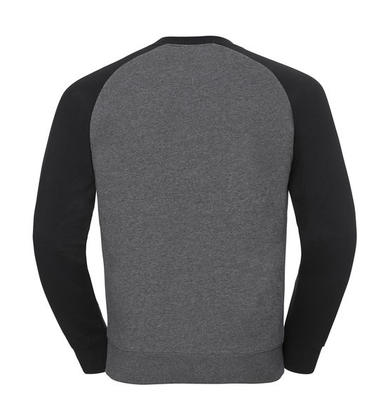 Sweat-shirt col rond publicitaire | Belt Carbon Melange Black