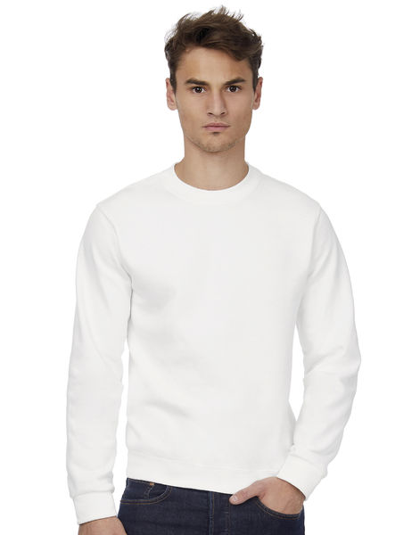 Sweat-shirt col rond publicitaire | ID.002 Cotton Rich Sweat  White 1