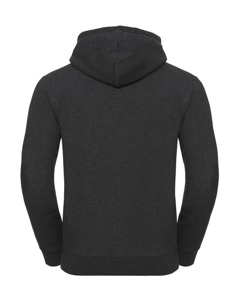 Sweat-shirt zippé à capuche chiné personnalisé | Chesapeake Charcoal Melange