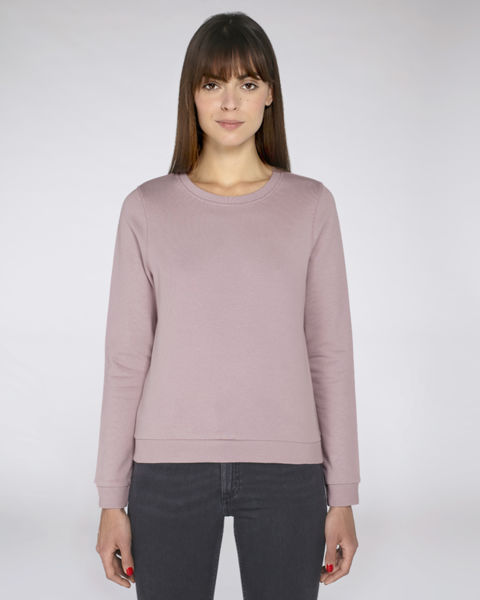 Sweat-shirt fil bicolore femme | Stella Fancies Lilac Peak Navy Twist