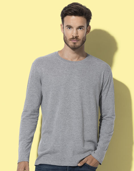 Sweatshirt publicitaire homme manches longues | Classic-T Long Sleeve Grey Heather
