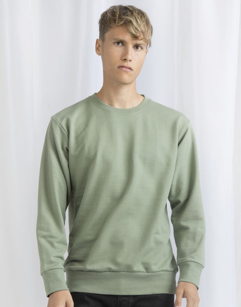 Sweatshirt publicitaire unisexe manches longues | Goddard Soft Olive