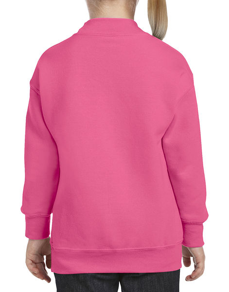 Sweat-shirt enfant col rond heavy blend™ publicitaire | Windsor Safety Pink