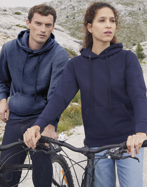 Sweatshirt publicitaire homme manches longues avec capuche | Classic Hooded Sweat Heather Navy 2