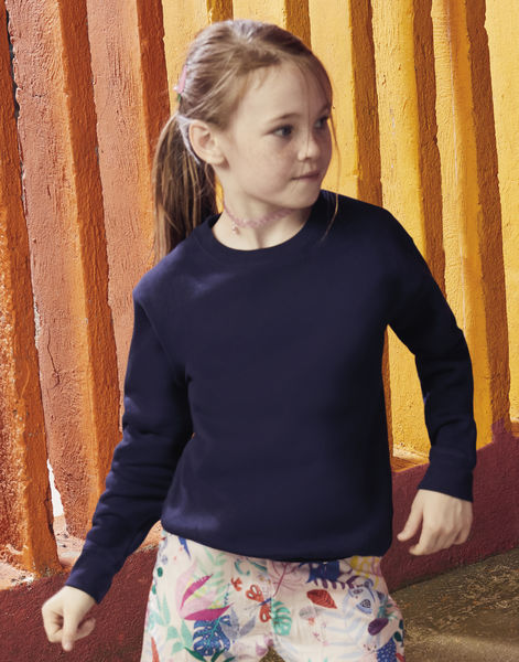 Sweatshirt publicitaire enfants manches longues | Kids Premium Set-In Sweat Deep Navy 2