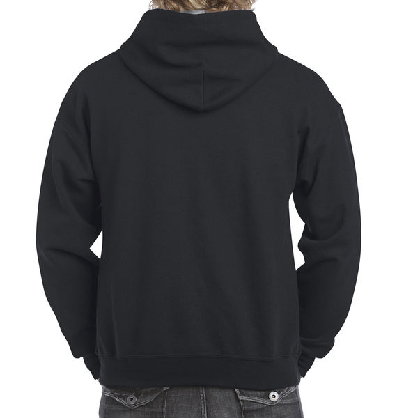 Sweat-shirt à capuche constrasté heavy blend™ publicitaire | Waterville Black Sport Grey