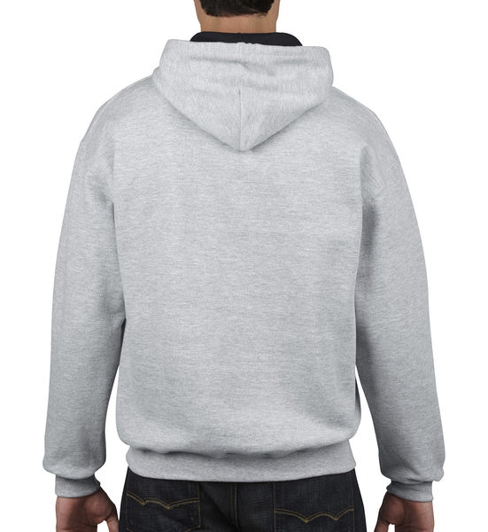 Sweat-shirt à capuche constrasté heavy blend™ publicitaire | Waterville Sport Grey Black