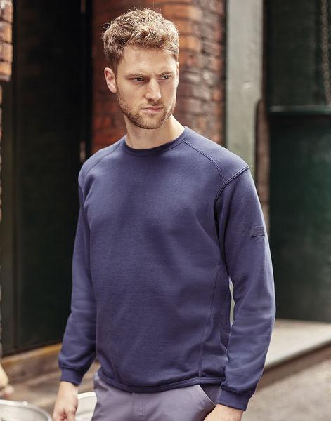 Sweatshirt publicitaire unisexe manches longues | Wuhu French Navy 4