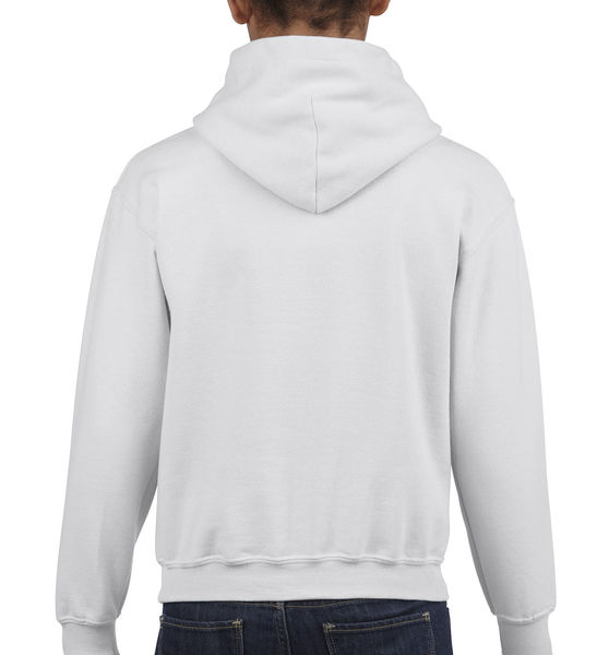Sweat-shirt enfant capuche heavy blend™ publicitaire | Waterloo White