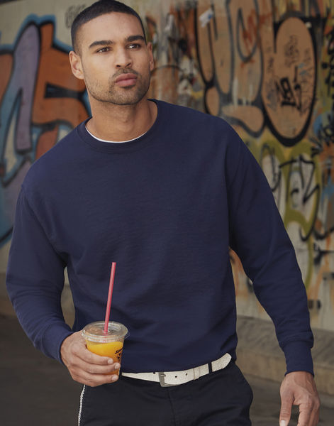 Sweatshirt publicitaire homme manches longues | Lightweight Set-In Sweat Deep Navy 2