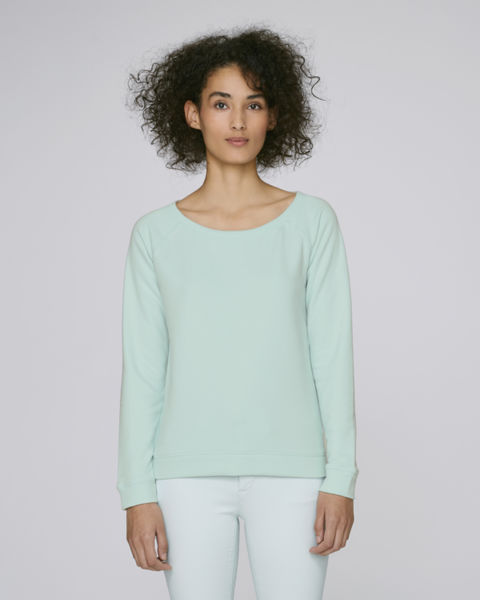 Sweat-shirt encolure dégagée femme  | Stella Escapes Caribbean Blue