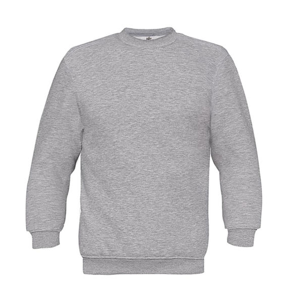 Sweat-shirt enfant col rond publicitaire | Set In kids Sweat Heather Grey 1