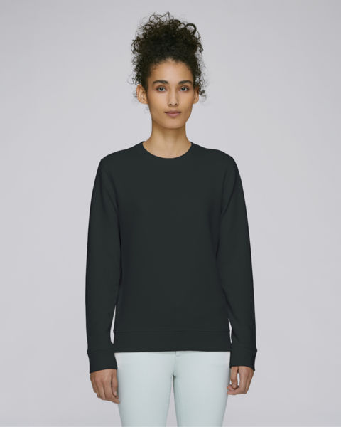 Sweat-shirt col rond essentiel unisexe | Rise Black