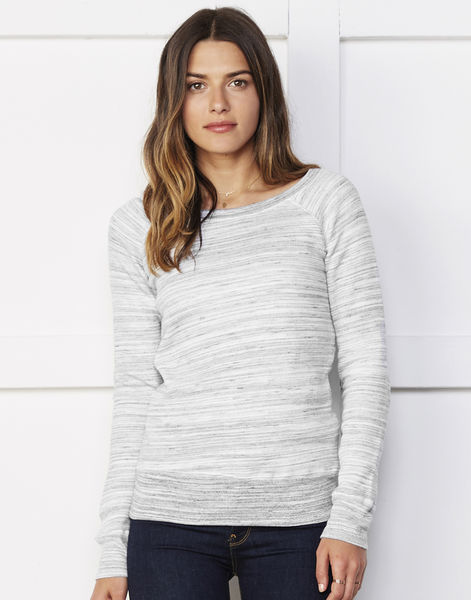 Sweat-shirt femme triblend publicitaire | Algieba Light Grey Marble Fleece 2