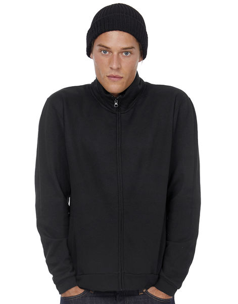 Veste molleton zippée publicitaire | ID.206 50 50 Full Zip Sweat Unisex Black 1