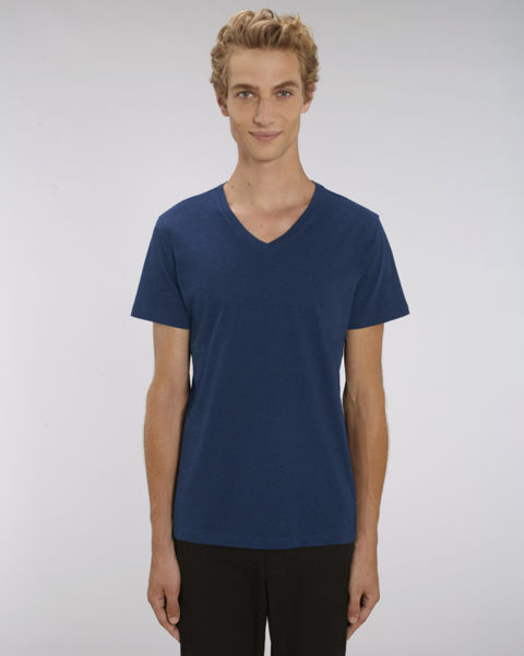 T-shirt col V homme | Stanley Presenter Black Heather Blue