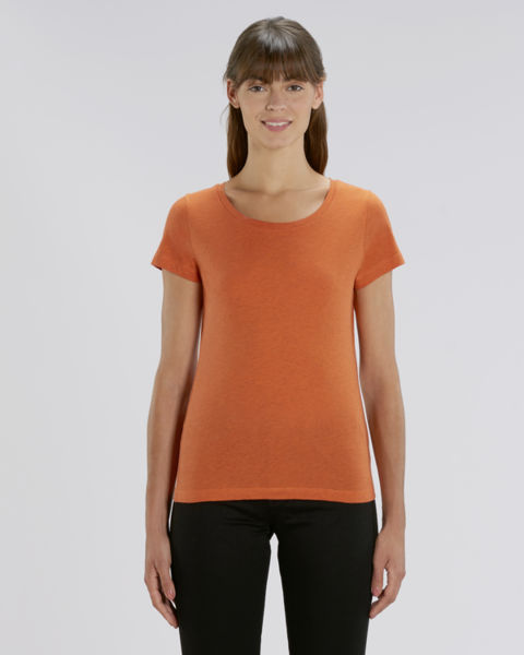 T-shirt iconique femme | Stella Lover Black Heather Orange