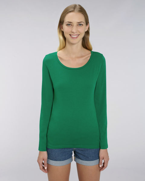T-shirt iconique manches longues femme | Stella Singer Varsity Green