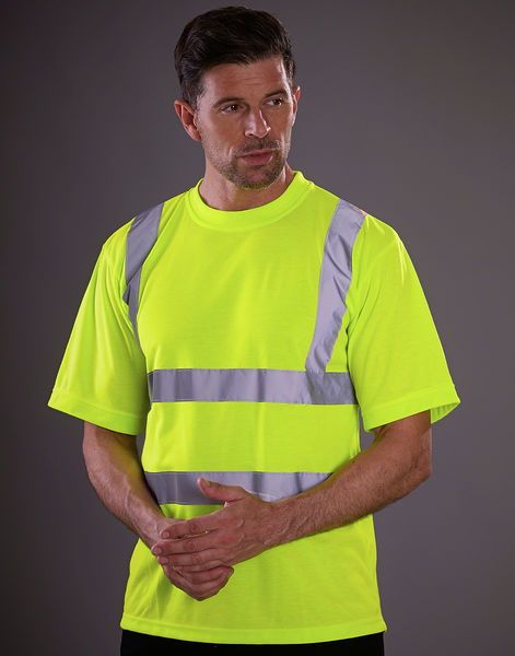 T-shirt publicitaire manches courtes | Dong Fluo Yellow 1