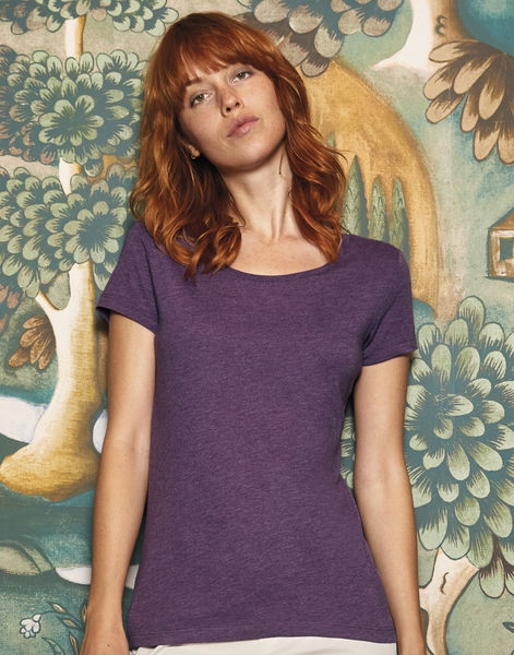 T-shirt triblend col rond femme personnalisé | Triblend women Heather Purple 2