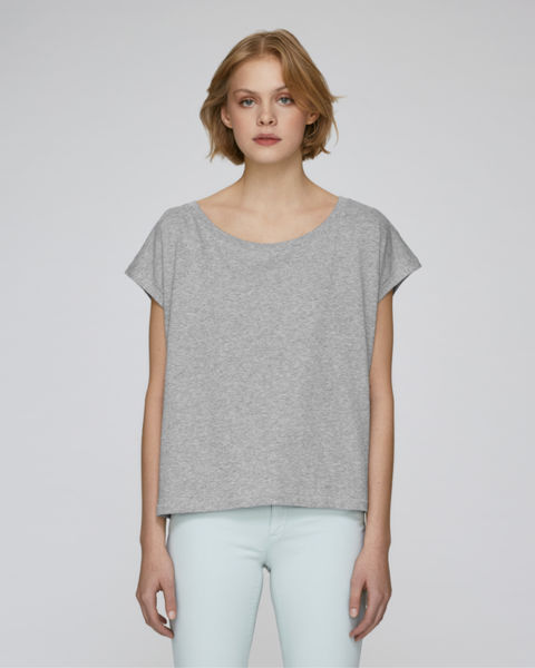 T-shirt court femme | Stella Flies Heather Grey