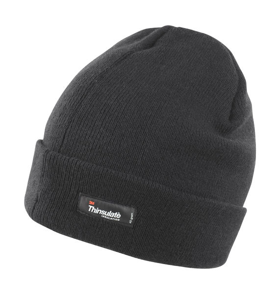 Bonnet léger thinsulate™ publicitaire | Lightweight Thinsulate Black