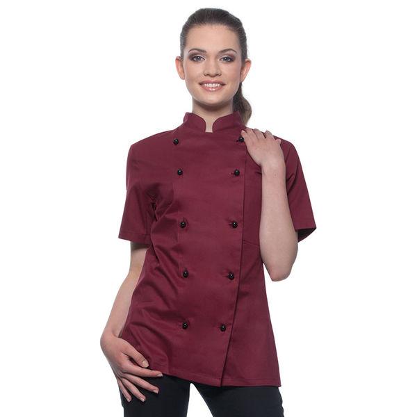 veste personnalisable de cuisine femme manches courtes cybjf 2 ... - Veste De Cuisine Personnalisee
