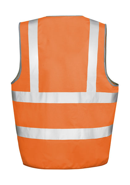 Gilet de sécurité high viz motorway publicitaire | Core Motorway Vest Fluorescent Orange