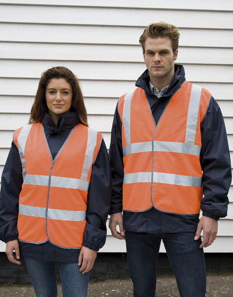 Gilet de sécurité high viz motorway publicitaire | Core Motorway Vest Fluorescent Orange 2