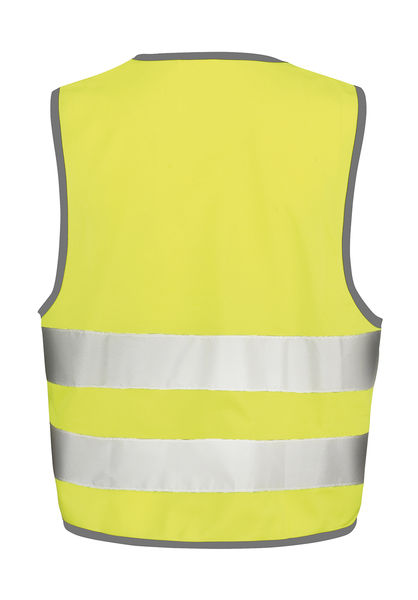 Gilet de sécurité enfant publicitaire | Core Junior Safety Vest Fluorescent Yellow