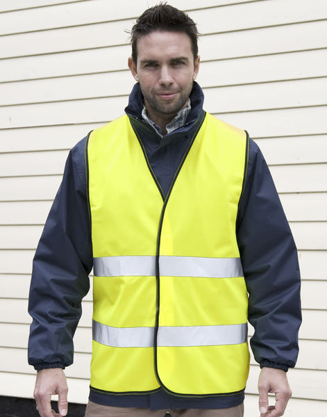 Gilet de sécurité high viz motorist personnalisé | Core Motorist Safety Vest Fluorescent Yellow 3