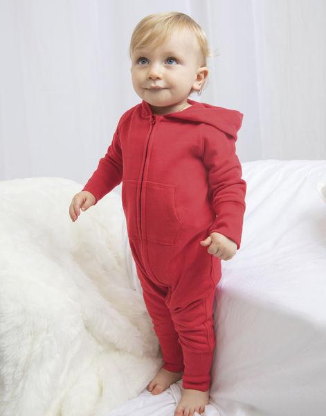 9924a60d0f633 Barboteuse manches longues à capuche publicitaire bébé