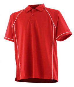 Performance polo men rouge blanc
